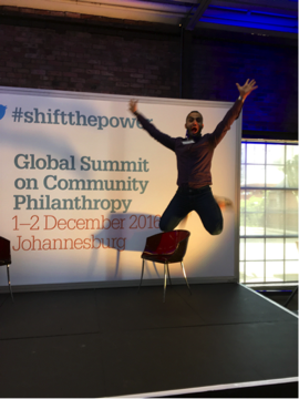 At the iconic Turbine Hall, Johannesburg South Africa attending the Global Summit on Community Philanthropy