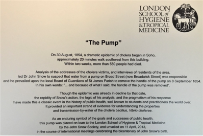 A description of the Broad Street pump